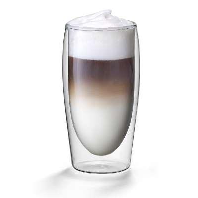 Dubbelwandig glas latte machiatto flame