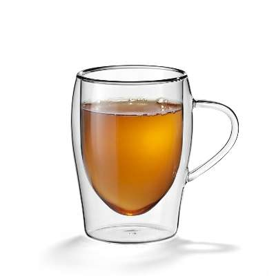 Dubbelwandig glas thee flame