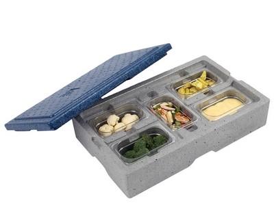 Eurobox transportbox grijs blauw isolerend