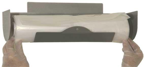 Afdekhoes dispenser tbv regaalwagens voor muurbevestiging roestvrijstaal rol a 25 stuks
