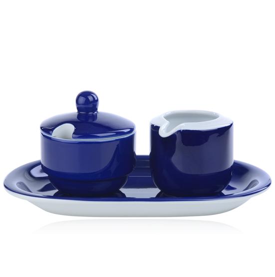 suiker en roomstel model ocean kobalt blauw mix match
