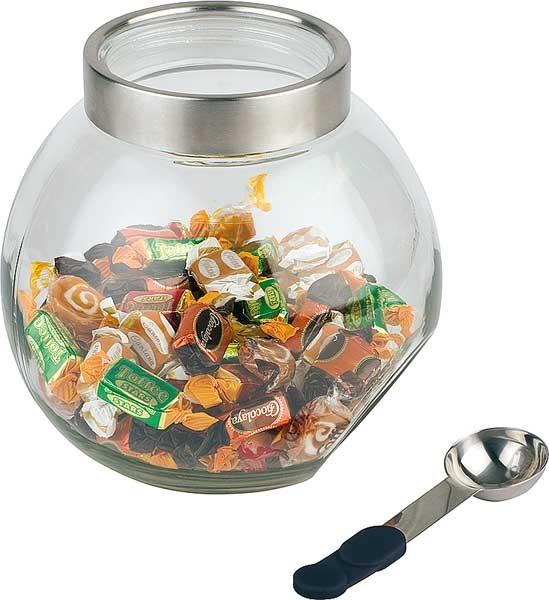Koekjes snoeppot glas met lepel