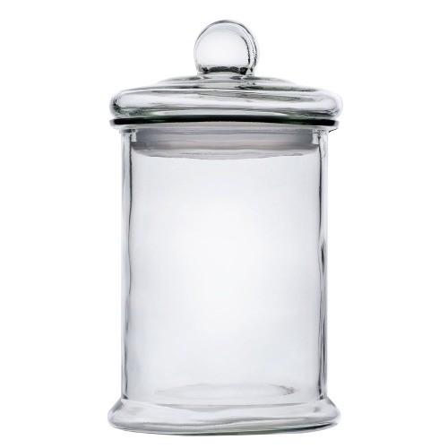 Glazen voorraadpot met deksel met siliconenrand