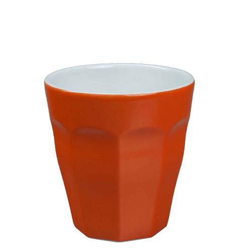 Beker Cafelegante Picardie kleur oranje nova porselein
