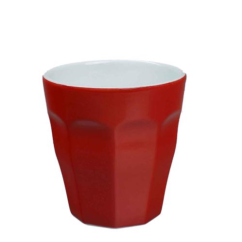 Beker Cafelegante Picardie kleur rood nova porselein