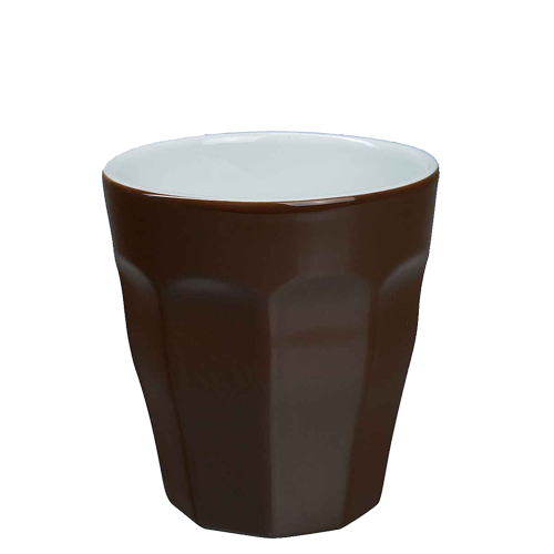 Beker Cafelegante Picardie kleur chocolade bruin nova porselein