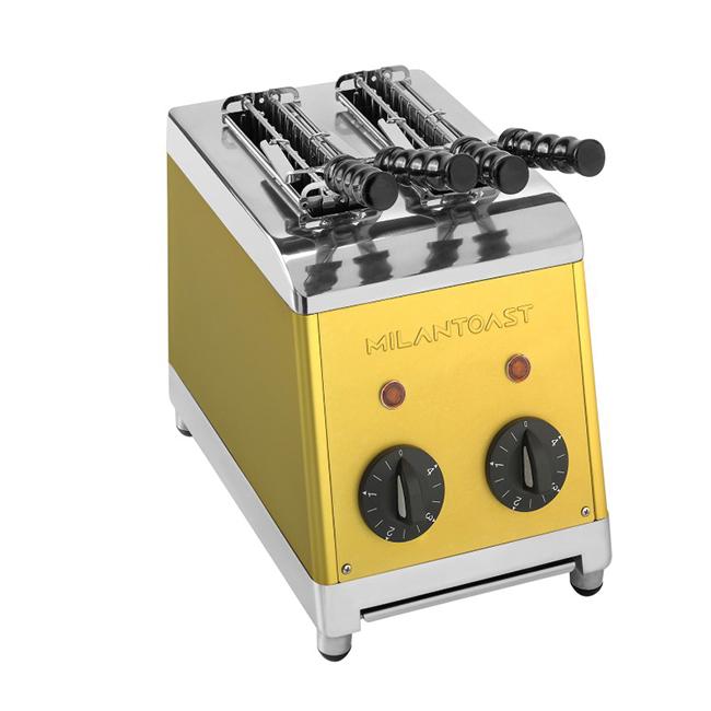 milan toast tosti apparaat goud kleur