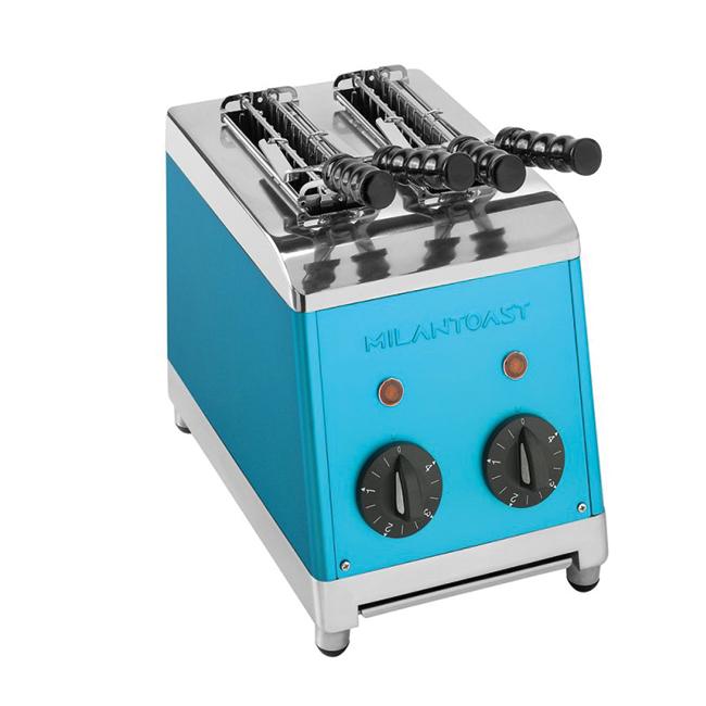 milan toast tosti apparaat blauw kleur