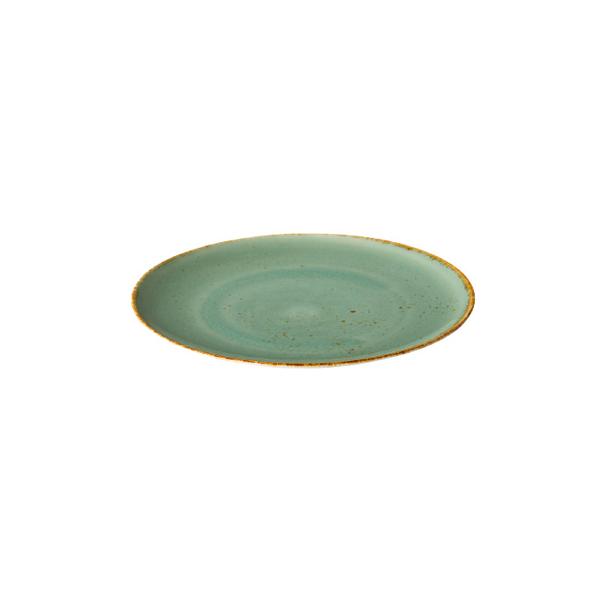 Q authentic coupe bord aqua blauw 15,5 cm 6stuks