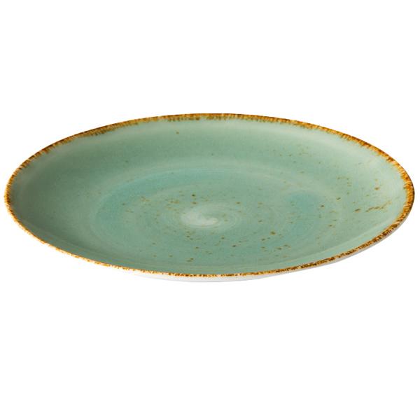 Q authentic coupe bord aqua blauw 27,7 cm 6stuks