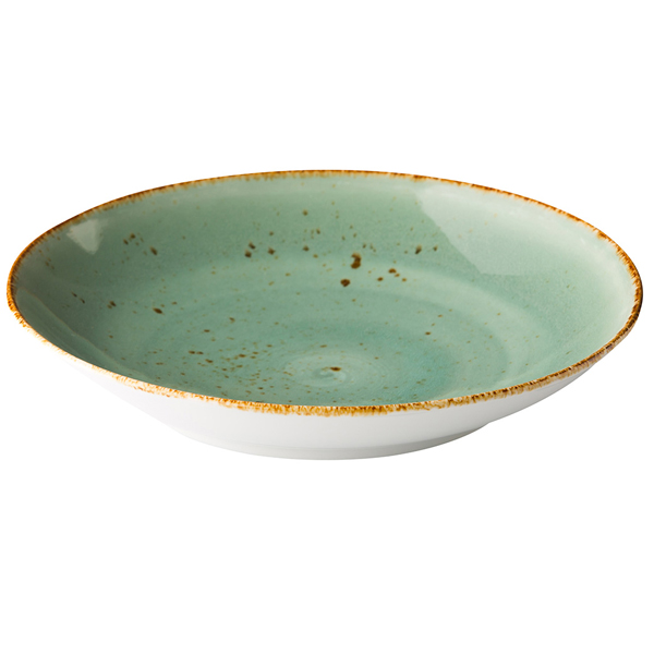 Q authentic coupe pastabord aqua blauw 26,2 cm 6stuks