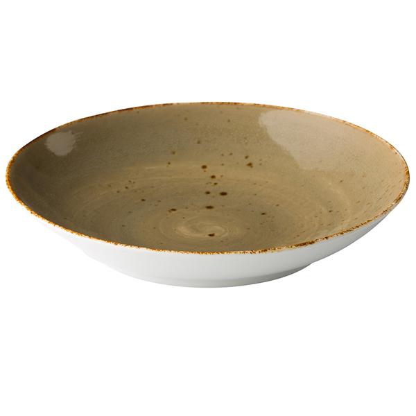 Q authentic coupe pastabord zand 26,2 cm 6stuks