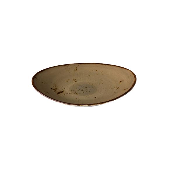 Q authentic bord ovaal zand 17,1x14,8 cm 6stuks