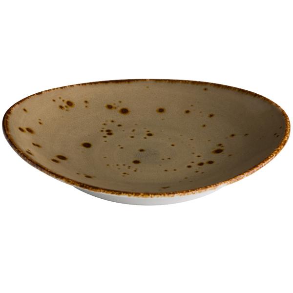 Q authentic bord ovaal zand 30x25,5 cm 3stuks