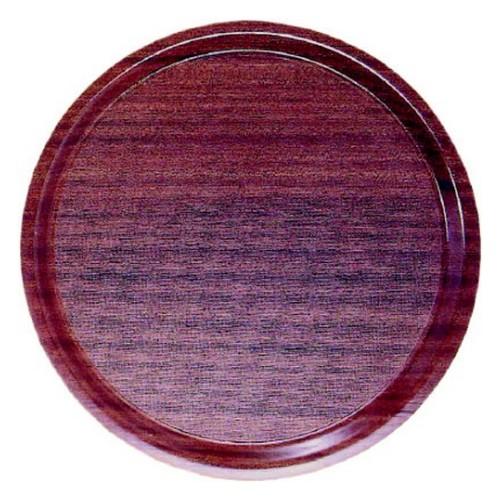 Dienblad mahonie anti slip rond 3505545 32.3250