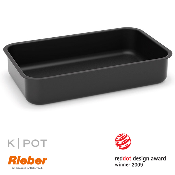 rieber k pot thermoplate 1 1 GN 2,5 liter zwart black 80.3624