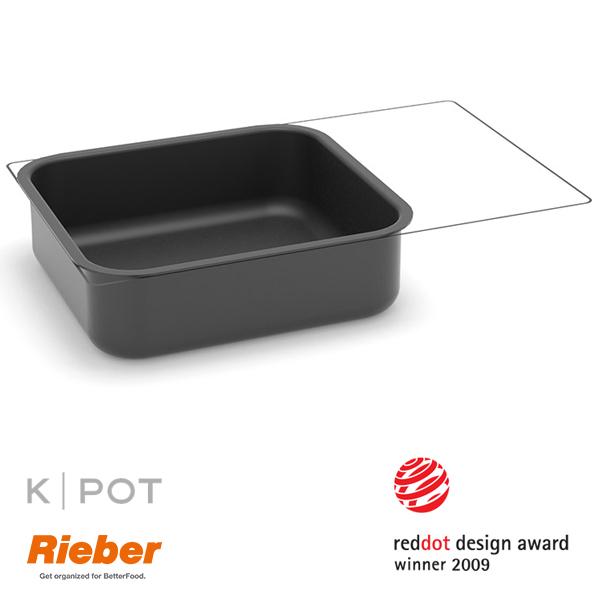 rieber k pot thermoplate 2 3 GN 7 liter zwart black 80.3640