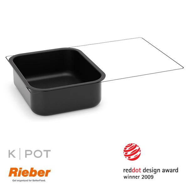 rieber k pot thermoplate 1 2 GN 5 liter zwart black 80.3630