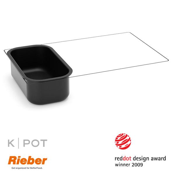 rieber k pot thermoplate 1 3 GN 2 liter zwart black 80.3652
