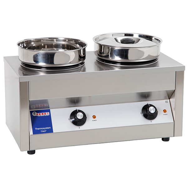 hendi thermosystem two bain marie hot pot