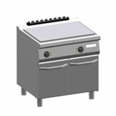 ATA 700 Bakplaat K7 EFBL10VVL elektrisch glad 800 staal met deuren 82.7522