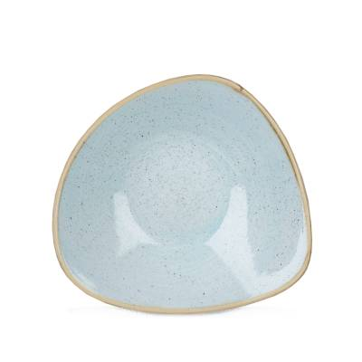 Schaal diep driehoekig Churchill Stonecast Duck Egg Blue