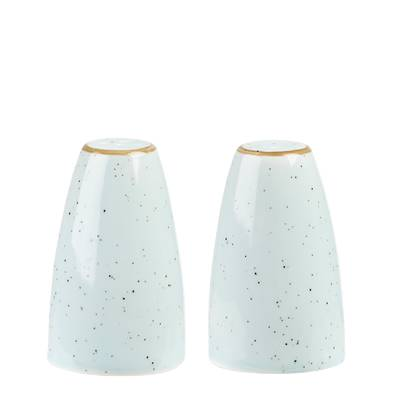 Peperstrooier en zoutstrooier Churchill Stonecast Duck Egg Blue