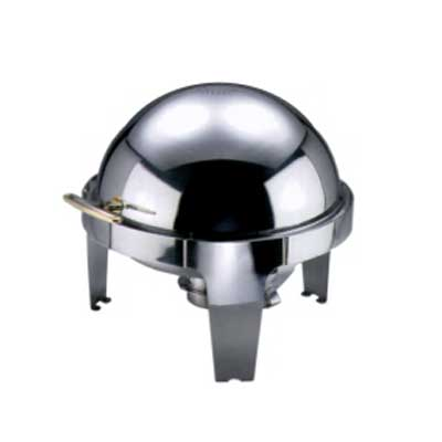 Chafing dish roll top rond roestvrijstaal