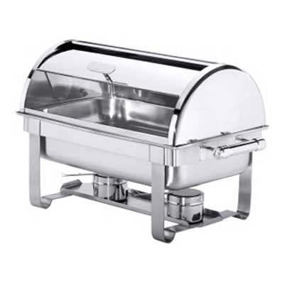 Chafing dish gastronorm roll top roestvrijstaal