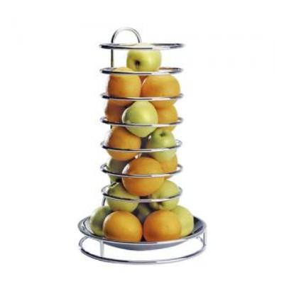 Fruitetagere sinaasappelkorf hoog verchroomd roestvrijstalen schaal