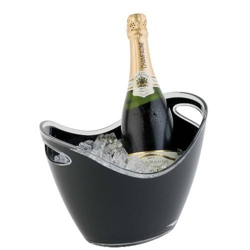 Wijnkoeler gondola kunststof zwart
