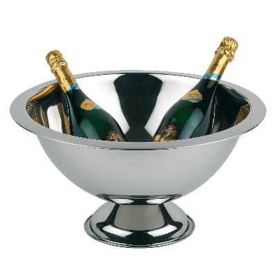 Champagnebowl wijnkoeler roestvrijstaal
