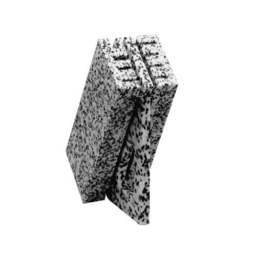 messenblok voor 8 messen polyethyl