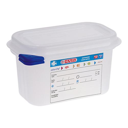 araven vershoudbak GN 1 9 met deksel gastronorm 0,6 liter haccp
