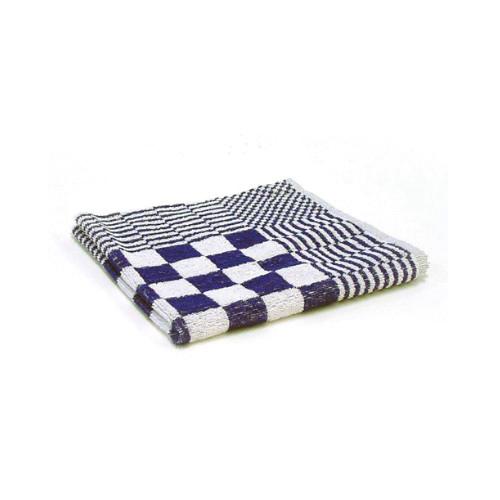 handdoek blauw geblokt