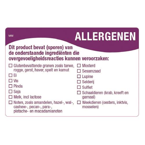 allergenen sticker multi 14 allergenen sticker rol 500 stuks daymark safety systems