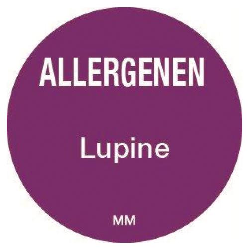 allergenen sticker lupine rol 1000 stuks rond 25 mm daymark safety systems