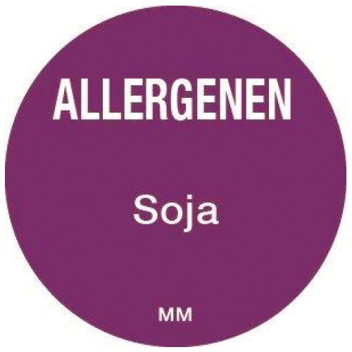 allergenen sticker soja rol 1000 stuks rond 25 mm daymark safety systems