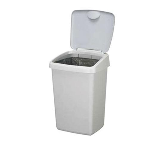 prullenbakje afvalemmer vuilnisbak swing 10 liter wit