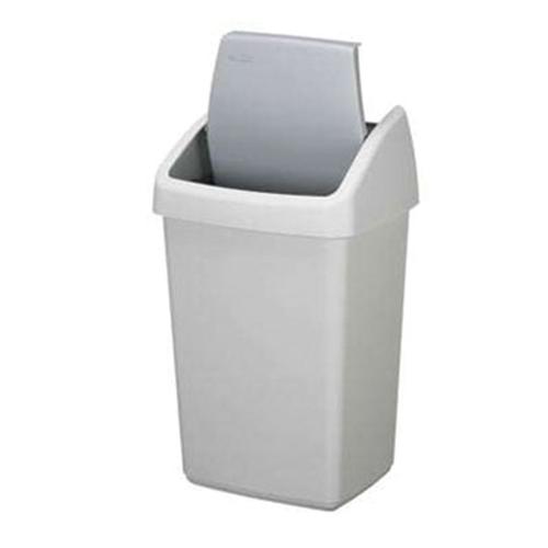 afvalbak prullenbak vuilnisbak swing fix deksel 25 liter wit