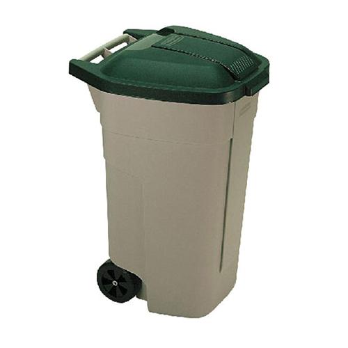 verrijdbare afvalbak met wielen 110 liter curver