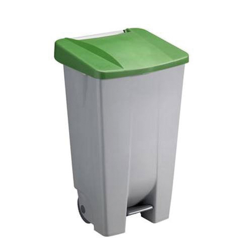 verrijdbare afvalbak met wielen basic 120 liter sunware