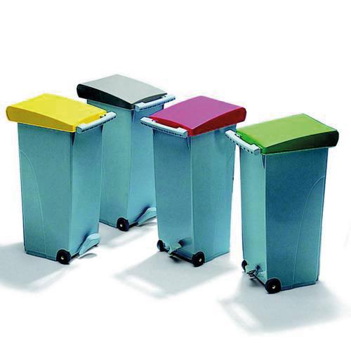 verrijdbare afvalbak met wielen clipper 70 liter
