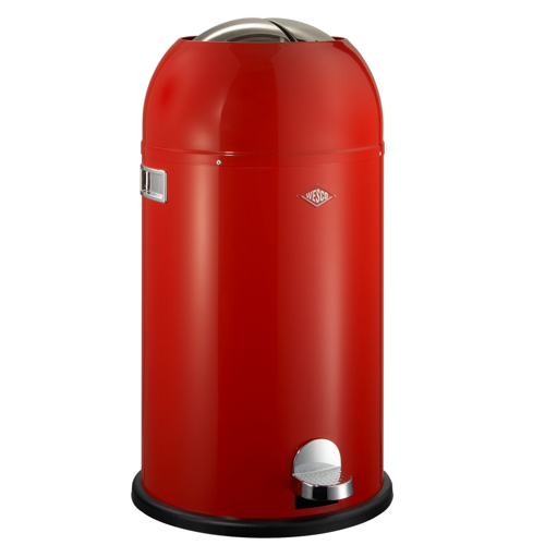 wesco kickmaster rood 33 liter pedaalemmer afvalbak vuilnisbak