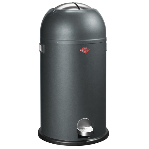 wesco kickmaster grafiet 33 liter pedaalemmer afvalbak vuilnisbak