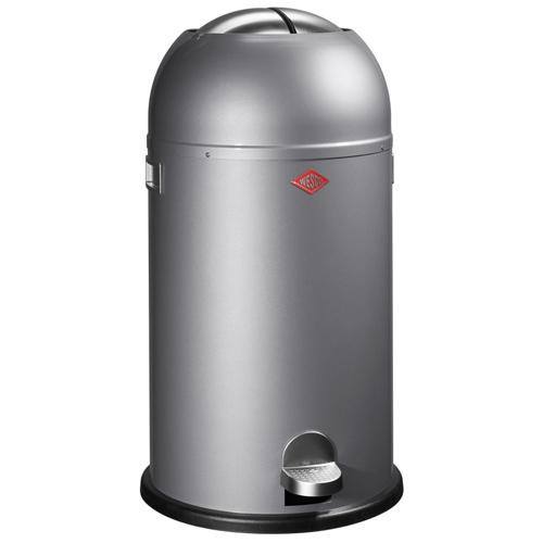 wesco kickmaster zilver 33 liter pedaalemmer afvalbak vuilnisbak