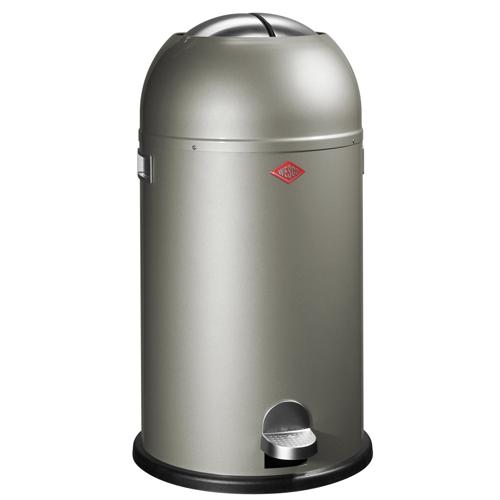 wesco kickmaster aluminium 33 liter pedaalemmer afvalbak vuilnisbak