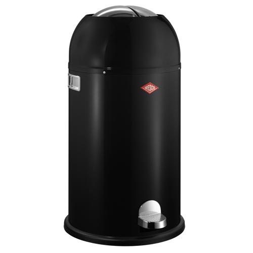 wesco kickmaster zwart 33 liter pedaalemmer afvalbak vuilnisbak