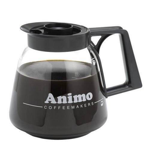 Glazen kan Animo koffie vuldeksel