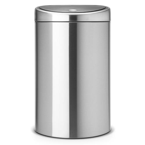 brabantia touch bin 40 liter mat staal